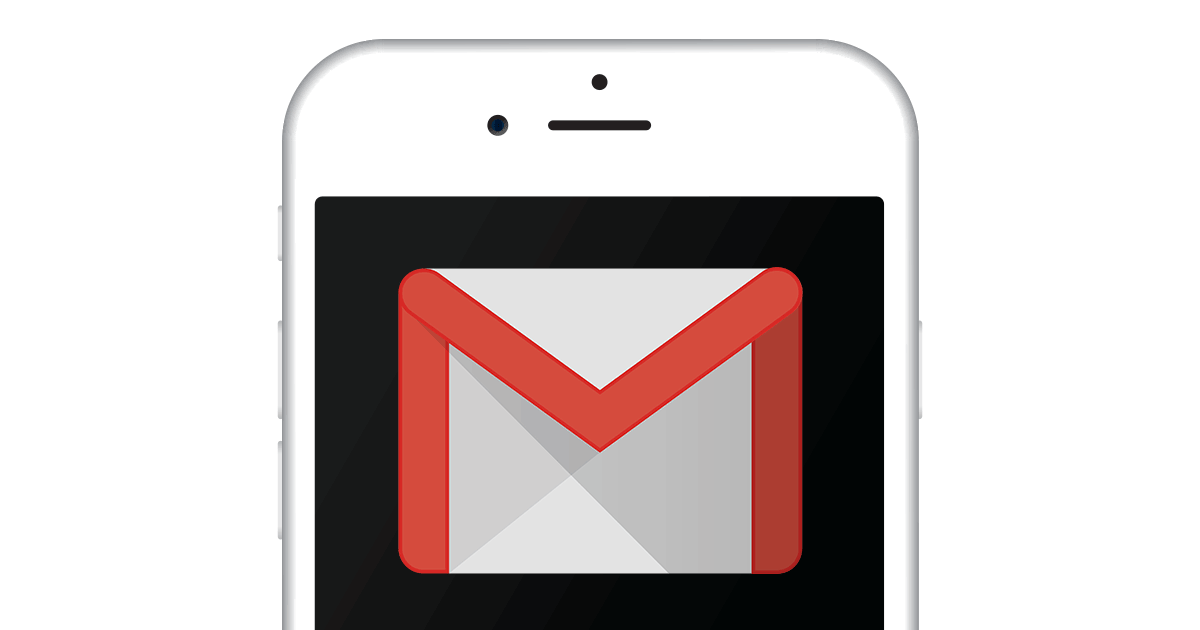 Gmail icon on a phone screen
